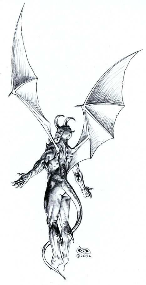 Pin Demon Pencil Drawings Genuardis Portal on Pinterest
